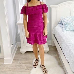 Chelsea & Violet Shoulder to Shoulder Lace Dress
